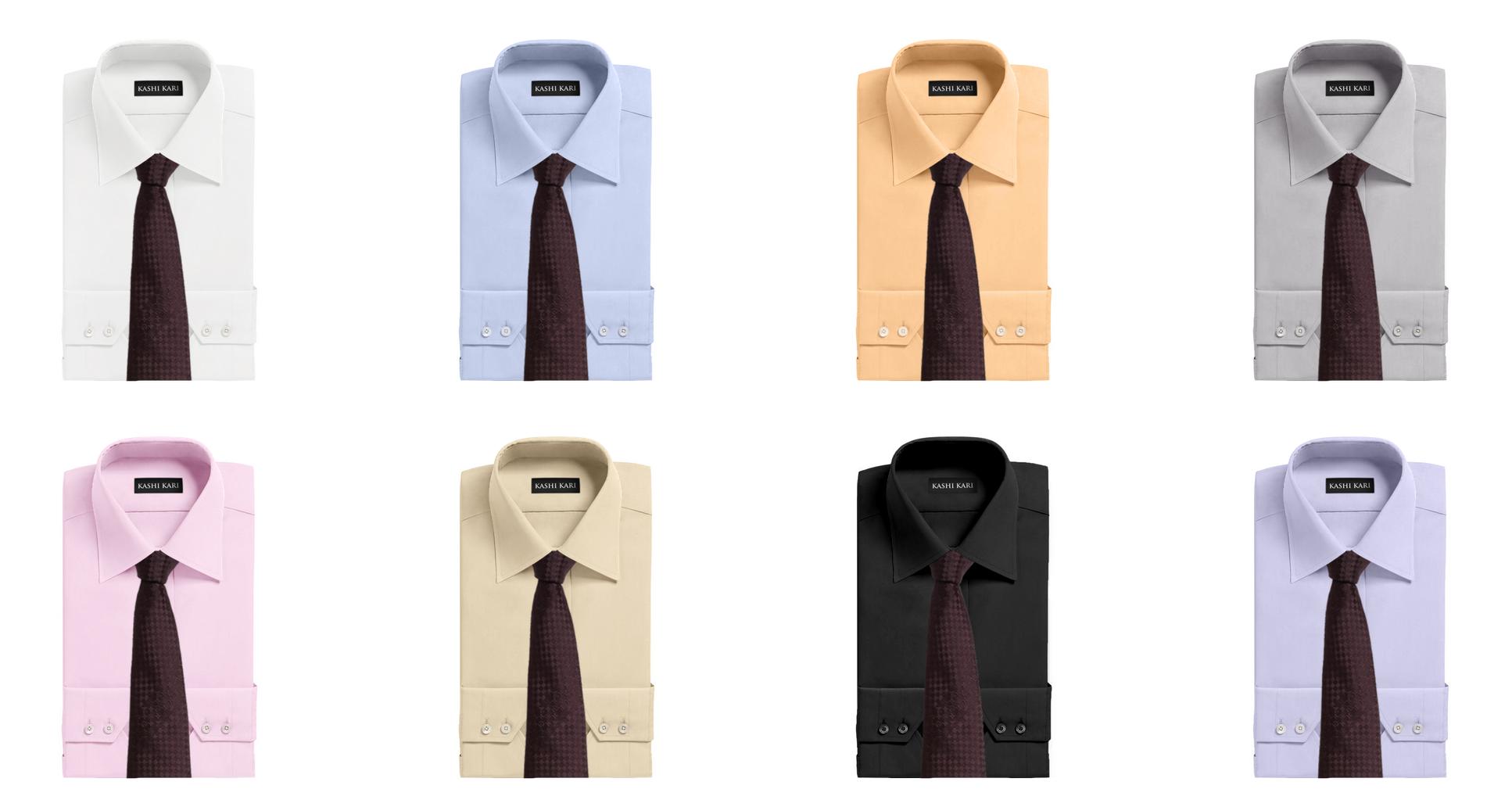 ブラウン系のネクタイと無地シャツのコーディネート・組み合わせ