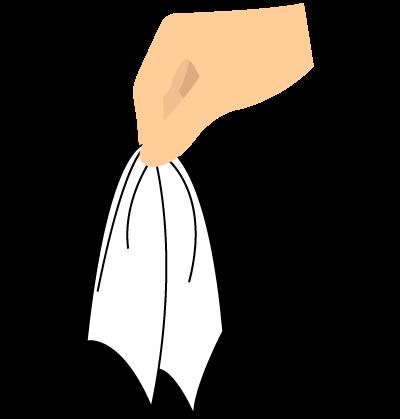 クラッシュ(ポケットチーフの折り方)3-1