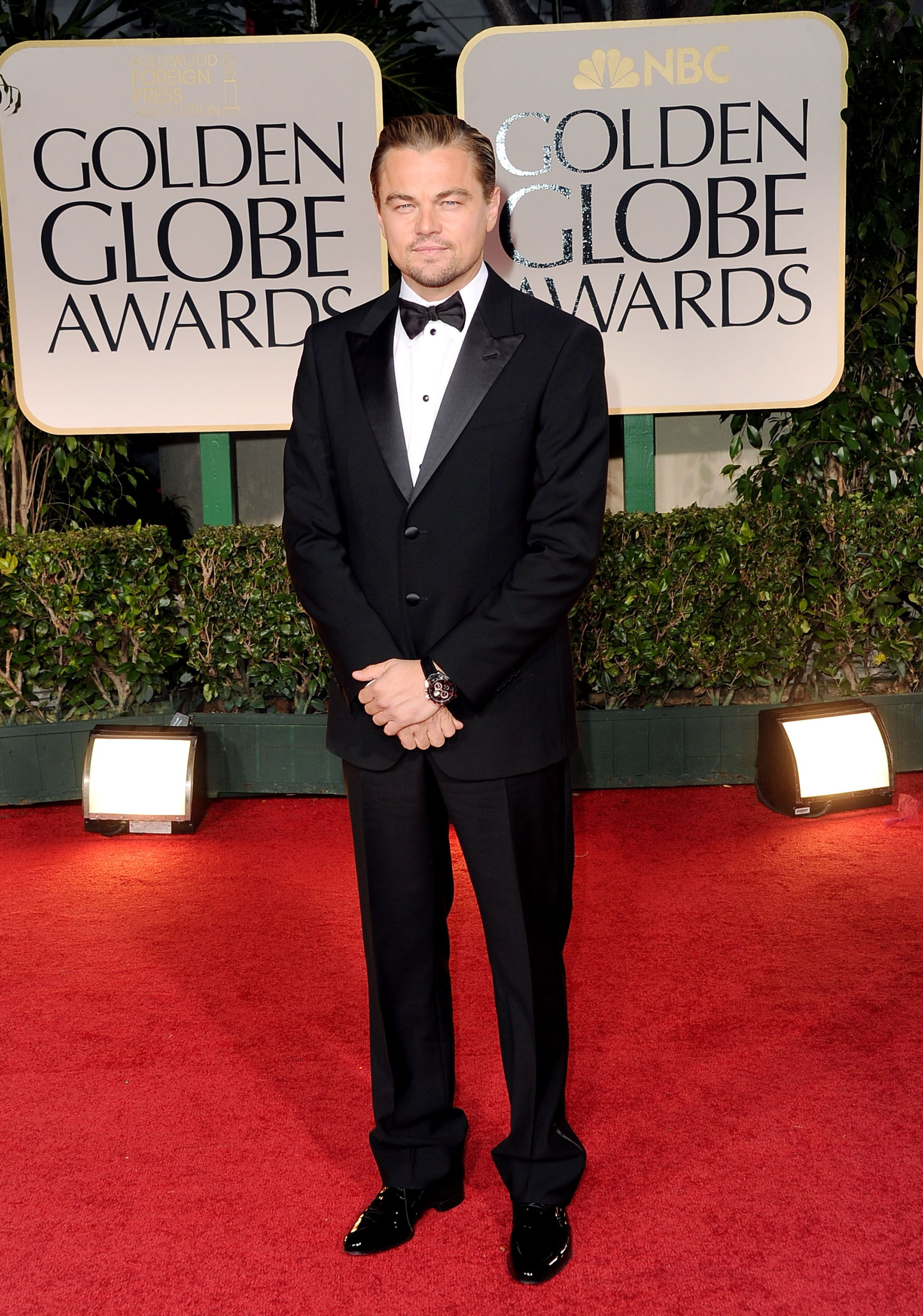BEVERLY HILLS, CA - JANUARY 15: Actor Leonardo DiCaprio arrives at the 69th Annual Golden Globe Awards held at the Beverly Hilton Hotel on January 15, 2012 in Beverly Hills, California. (Photo by Jason Merritt/Getty Images)