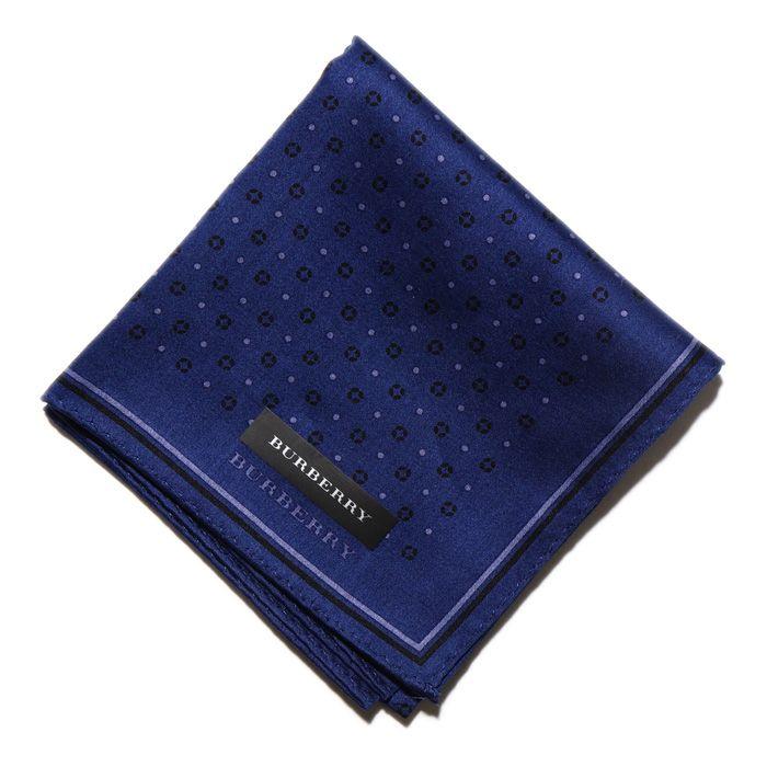 2014/15AW 新作 新品 バーバリー ハンカチ 34172 ブルー系 メンズ 小物にもアクセントを