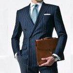 Chalk-Stripe-Men-Suit-Custom-Made-2017-Navy-Blue-Mens-Striped-Suit-Tailored-Double-Breasted-Men