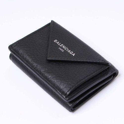 バレンシアガペーパーミニウォレット 三つ折りミニ財布