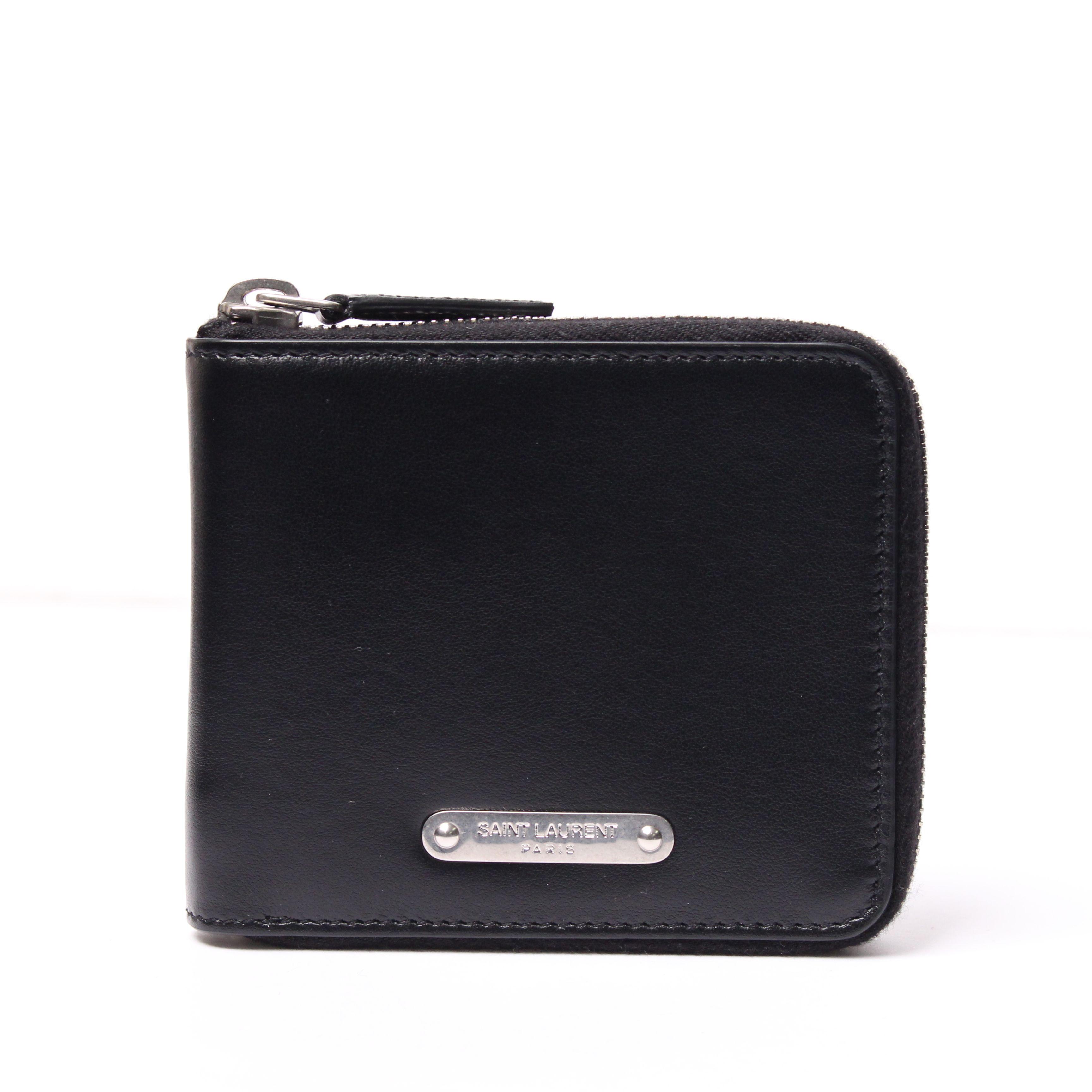 サンローラン二つ折りメンズファスナー財布