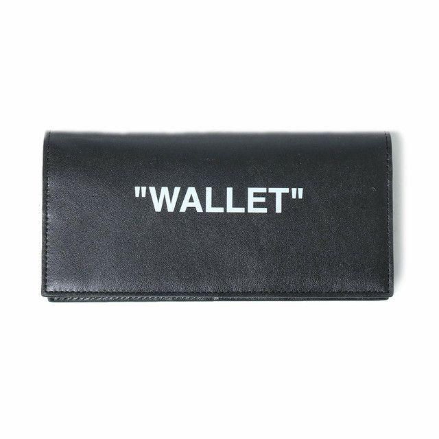 OFF-WHITE(オフホワイト) テキストデザイン長財布