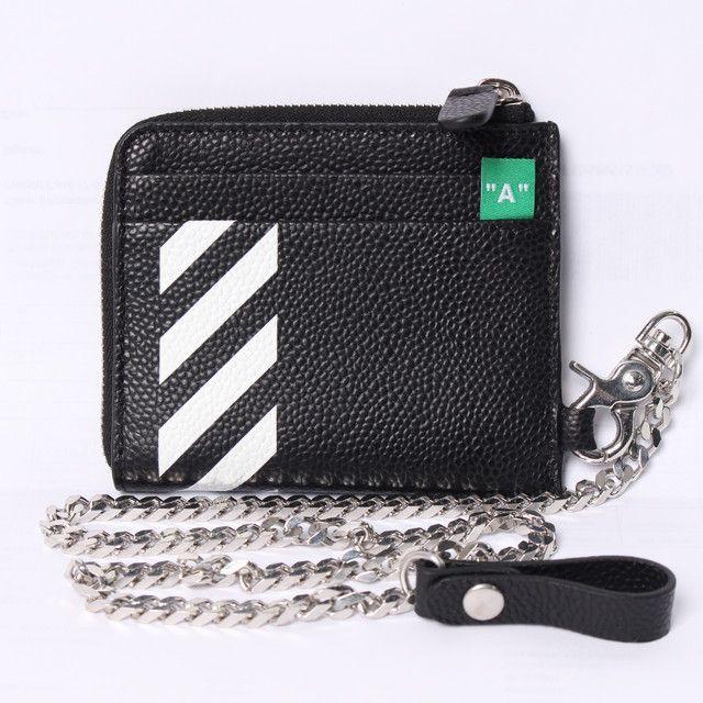 OFF-WHITE(オフホワイト) 財布 レザーコインケース DIAG CHAIN WALLETの裏側