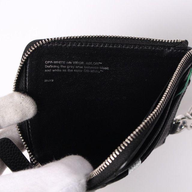 OFF-WHITE(オフホワイト) 財布 レザーコインケース DIAG CHAIN WALLETの内側